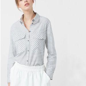 Mango chest pocket striped shirt
